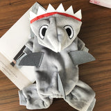 Funny Cosplay Shark Pet Dog Winter Clothes for Small Dogs Puppy Clothing Chihuahua Warm Jumpsuit Pug Costume Yorkie Outfit