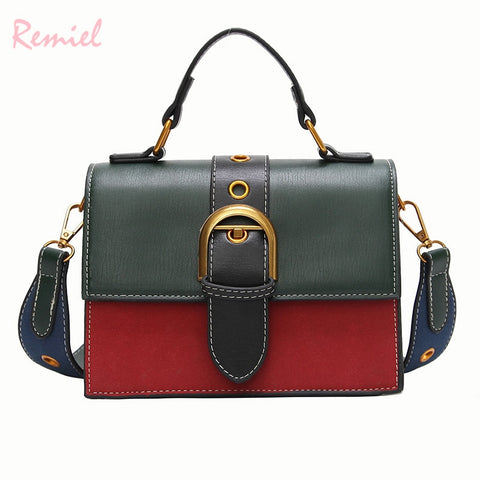 Bags for Women 2018 Fashion New Quality PU Leather Women bag Hit color Portable Shoulder Messenger Bag Travel Tote Crossbody bag