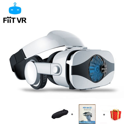 Fiit Helmet 3D VR Glasses Virtual Reality Headset For Smartphone Goggles Google Cardboard Casque Smart Phone Android 3 D Lense