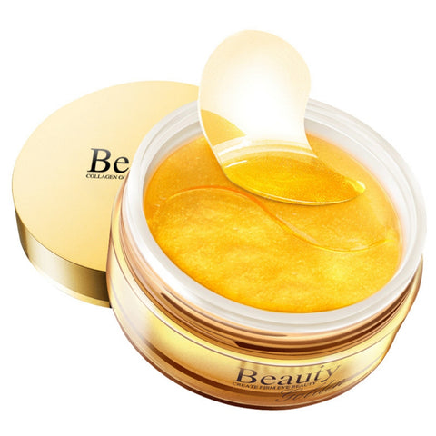 60pcs Gold Collagen Eye Mask Ageless Remove Dark Circles Whitening Firming Sleep Mask Moisturizing Eye Patches Eyes Skin Care
