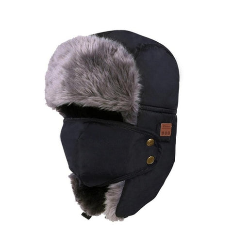 Bluetooth 3.0 Headphone Hat Unisex Thicken Warm Faux Fur Winter Beanie Hat Wireless Headset Smart Cap Outdoor Soft Cap