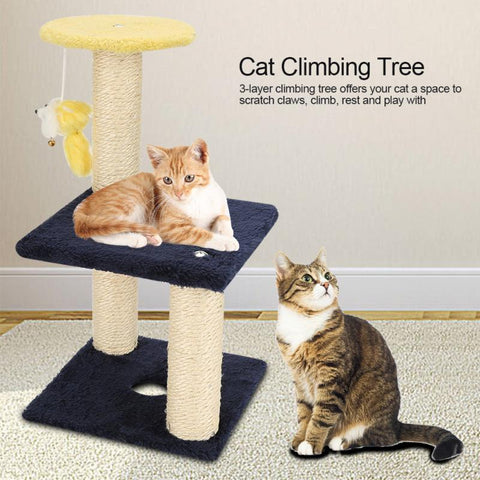 New 3 Layer Cat Climbing Tree Scratching Post Board Hanging Toy Home Pet Activity Center Cat Jumping Standing Fram Cat Furniture