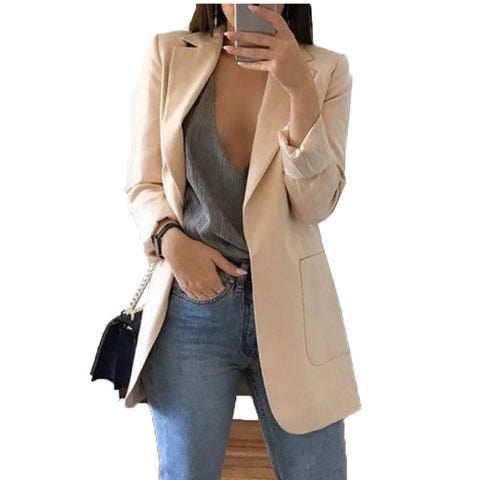 Blazer Jackets for Women Suit European Style 2019 spring fashion Work Style Suit ladies blazer Long Sleeve  Blazer Outerwear