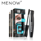 MENOW Brand Mascara Makeup Set 3D Thick Curl Long Eyelash Long-lasting Eye Liner Pencil Beauty Eye Makeup Set Cosmetics