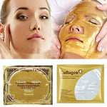 10Pcs Bioaqua 24K Gold Collagen Face Mask Crystal Gold Collagen Facial Masks Moisturizing Anti-aging Skin Care Korean  Mask