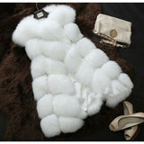 Faux Fur Coat Spring Women 2019 New Fashion Casual Warm Slim Sleeveless Faux Fox Fur Vest Winter Jacket Women casaco feminino