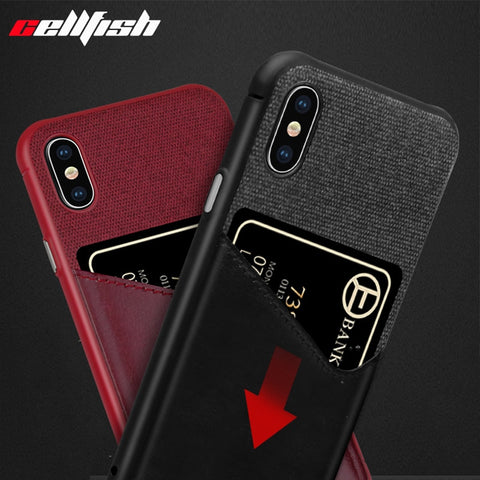 Card Slot Cell Phone Case for iPhone 7 Wallet Money Accessories for iPhone 8 Plus 6s 7Plus Cover for Coque iPhone X XS MAX XR