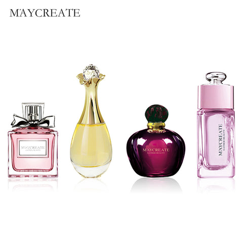 MayCreate 1Set Original Perfumed Women Female Parfum Atomizer Perfum Bottle Glass Fashion Lady Flower Fragrance Perfumed