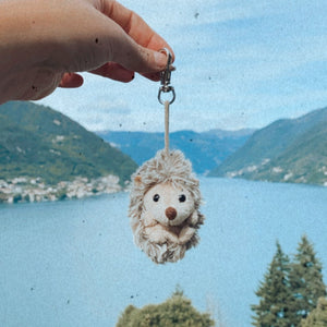 Hedgehog Plushee Key Chain (Belly Rubs Position)