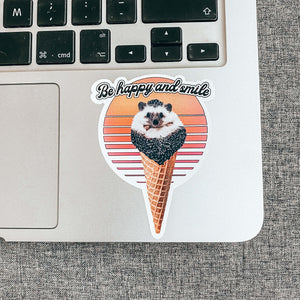 Spike Cream Vintage Sticker