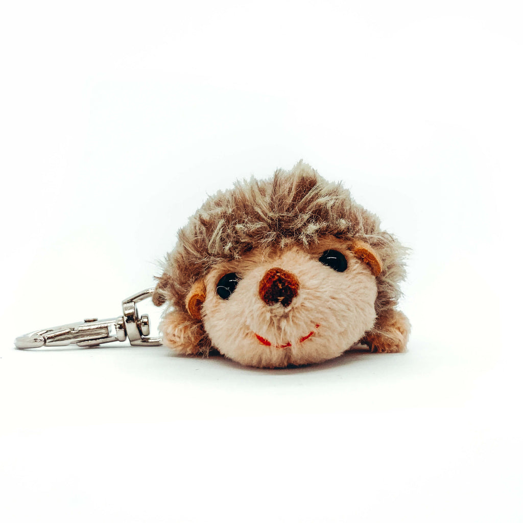 Hedgehog Plushee Key Chain (Walking on Tiny Feet)