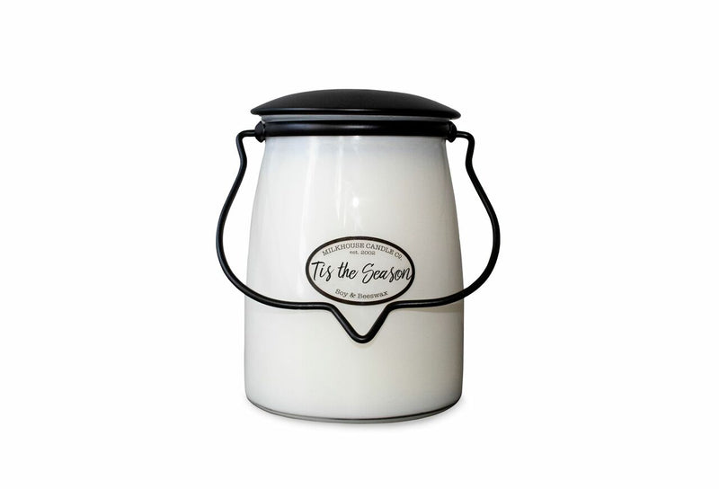 Milkhouse Candle Company, Creamery Scented Soy Candle: Butter Jar Candle, Tis The Season, 22-Ounce