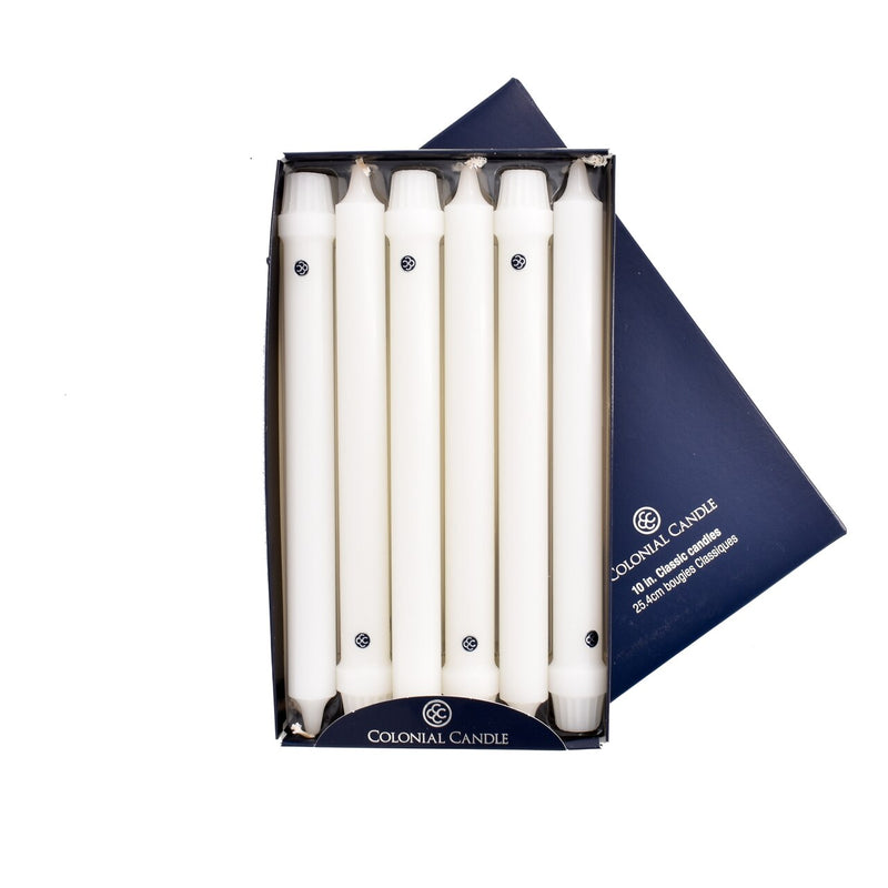 "Colonial Candle - 10"" Classic Candles - White"