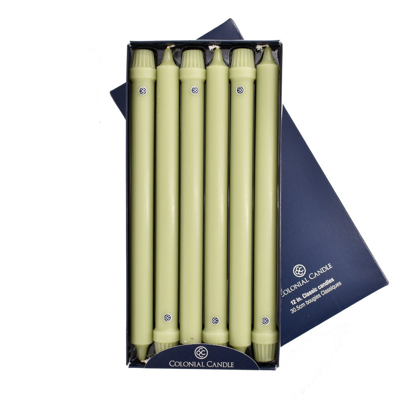 "Colonial Candle - 12"" Classic Candles - Willow Green"