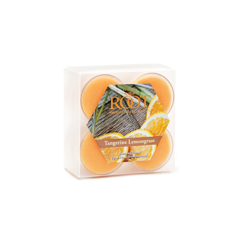 Root Scented Tealights - Tangerine Lemongrass