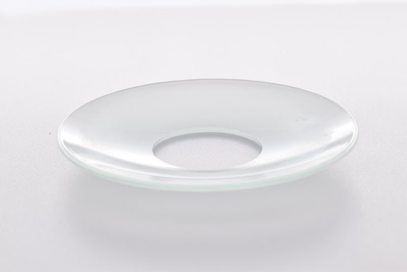 Bobeche - SET OF 2 Frosted Plain Glass 2.75 Inch