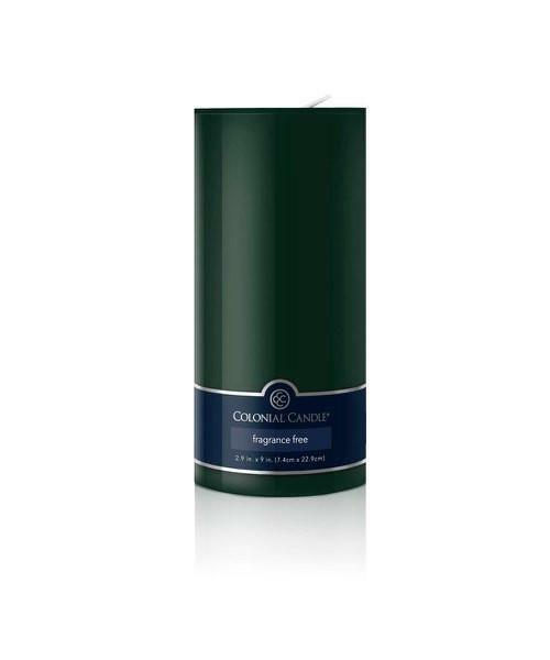 Colonial Candle - Evergreen Pillar Unscented 2.9 X 9