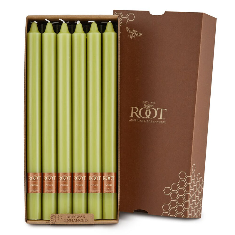 "Root Candles - 12"" Arista™ Smooth Dinner Candle - Willow Box of 12"