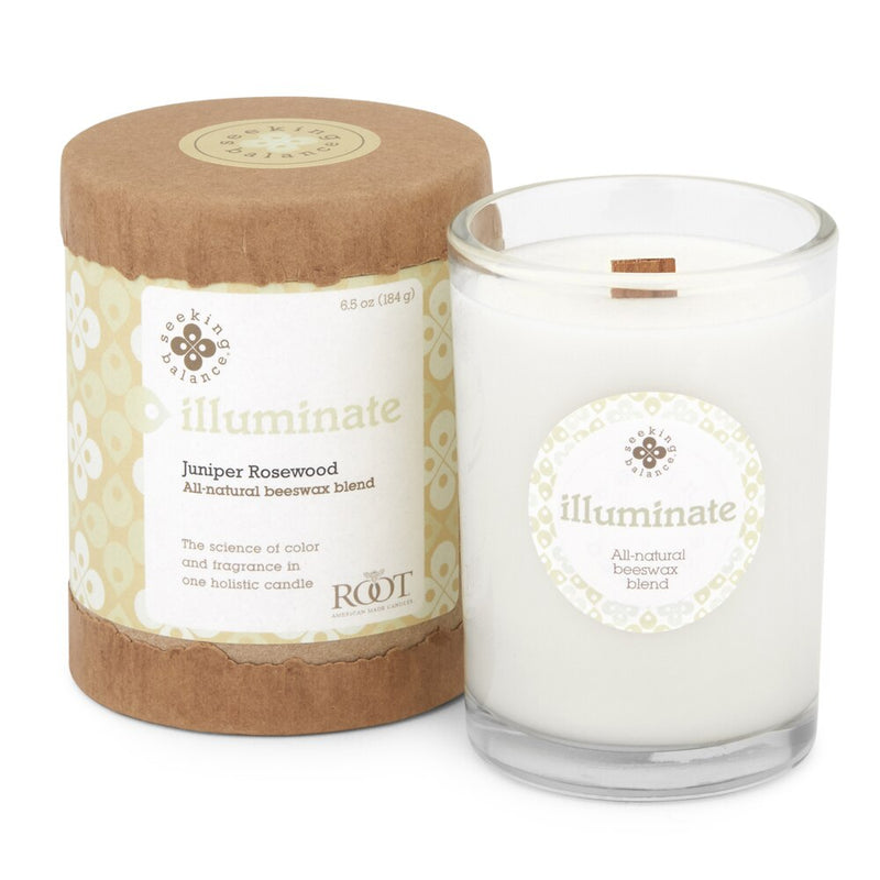 Root Seeking Balance® - Illuminate: Juniper Rosewood - 6.5oz Candle