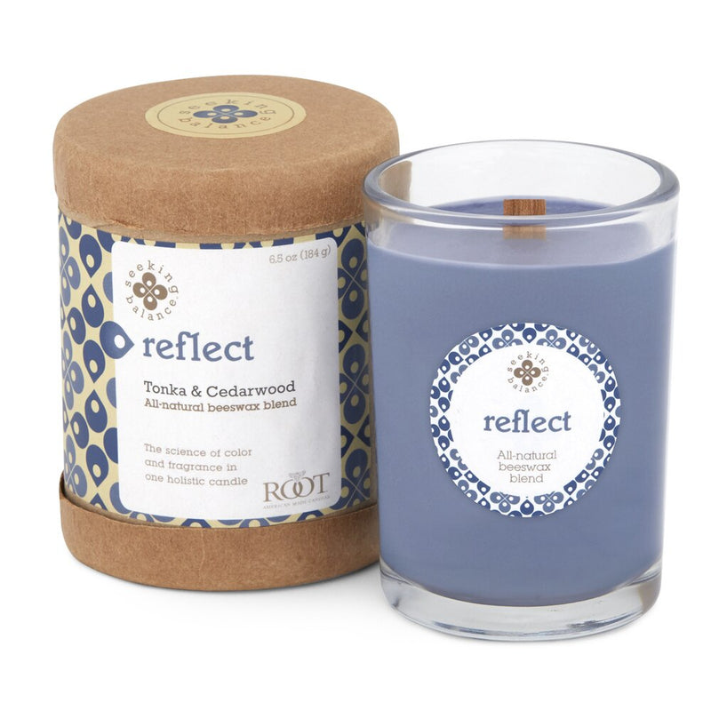 Root Seeking Balance® - Reflect: Tonka & Cedarwood - 6.5oz Candle