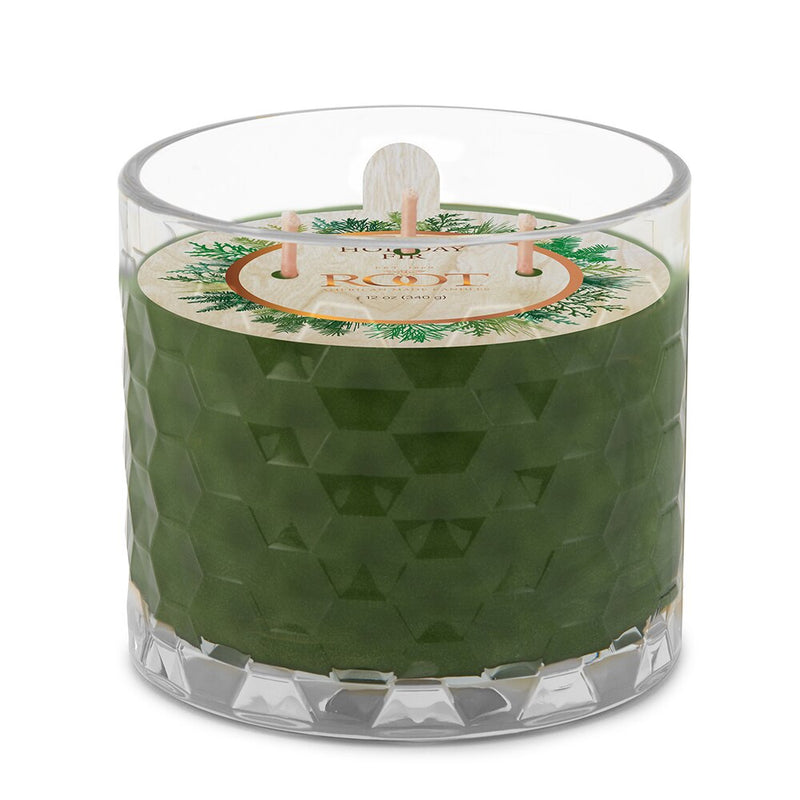 Root 3 Wick Honeycomb - Holiday Fir - 12oz Candle