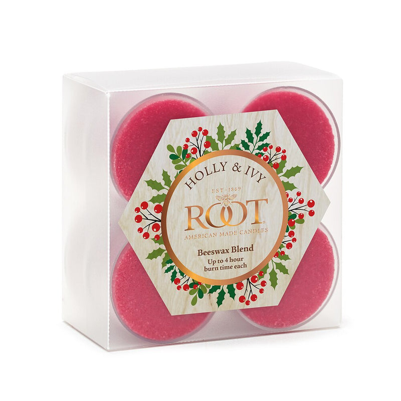 Root Scented Tealights - Holly & Ivy