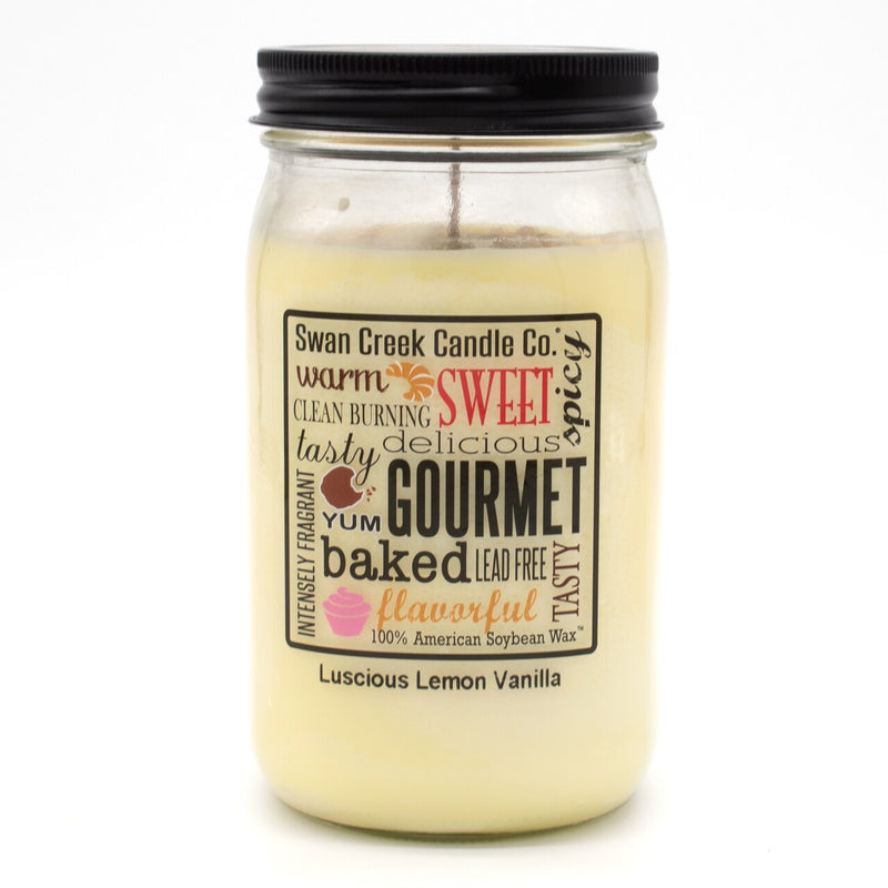 Swan Creek Candle - Luscious Lemon Vanilla 24 oz Jar