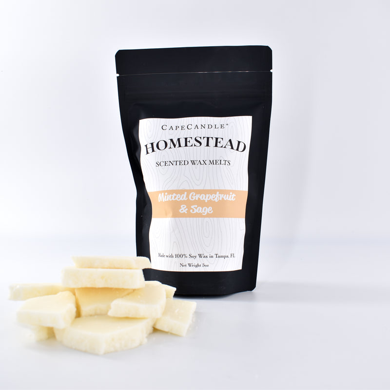 Cape Candle Homestead - Minted Grapefruit & Sage Soy Wax Melts