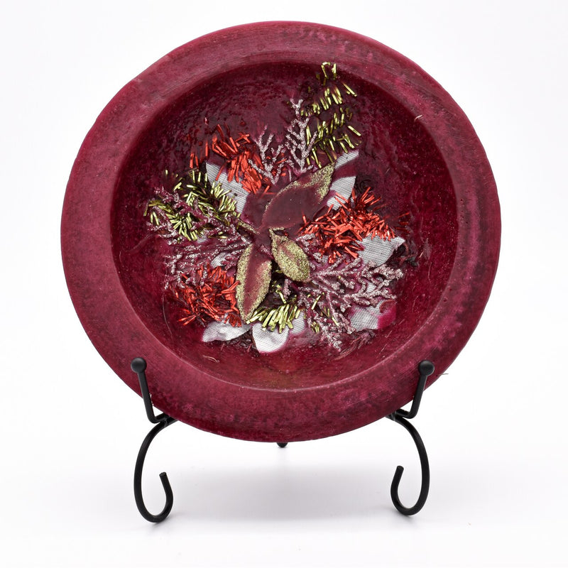 Habersham - Holiday Sparkle Wax Pottery Bowl 7 inch with Free Stand Set of 6
