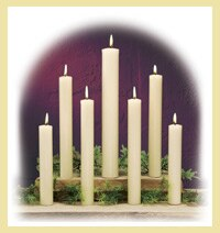 Dadant - 100% Beeswax Altar Candles 1.25 X 25 (box of 6)