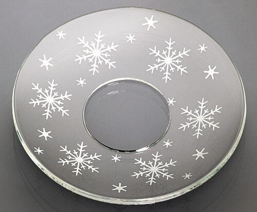 Bobeche - SET OF 2 Snowflakes Glass 2.75 Inch