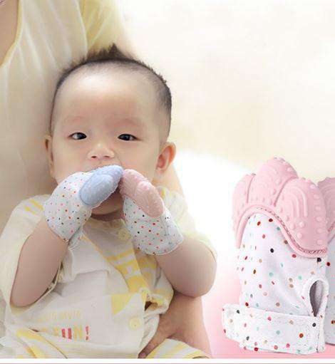 Baby Teether Safe Silicone Mittens