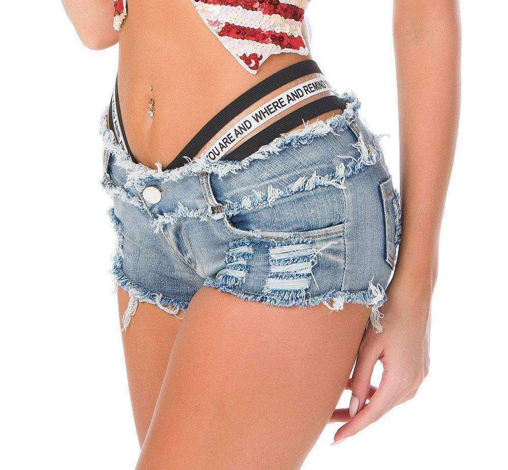 "'""Who Are You"" Women's Denim Shorts by InstantChamps"