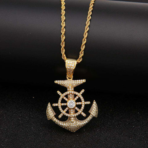 Men's Classic Anchor Necklace