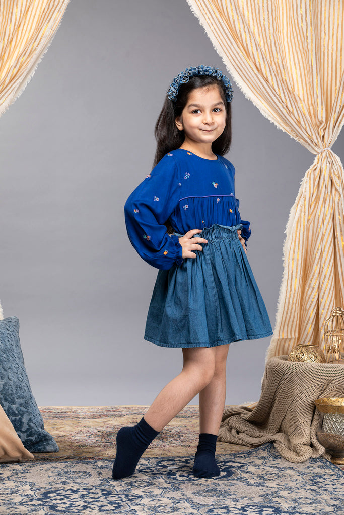 Daryl Skirt - Medium Blue