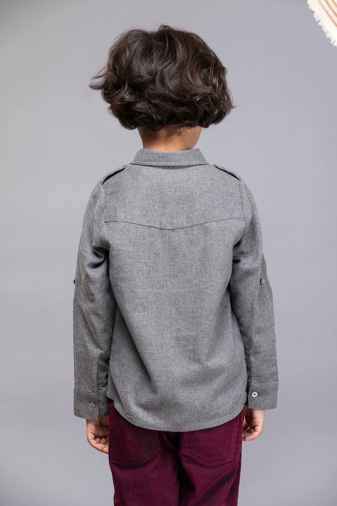Philip Shirt - Grey Melange