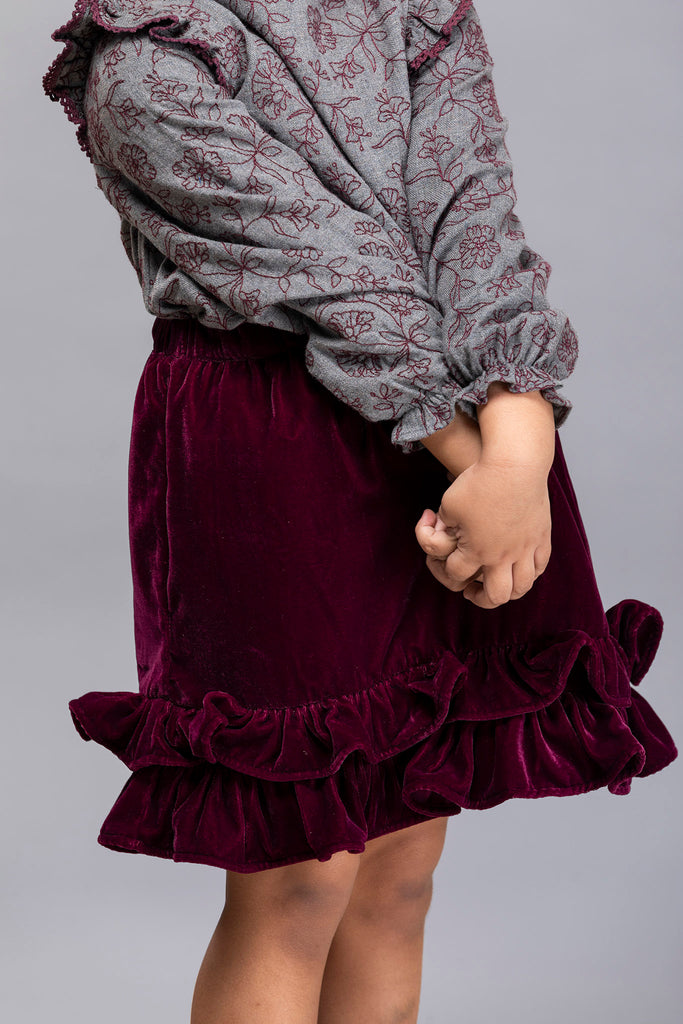 Gemma Skirt - Burdeos