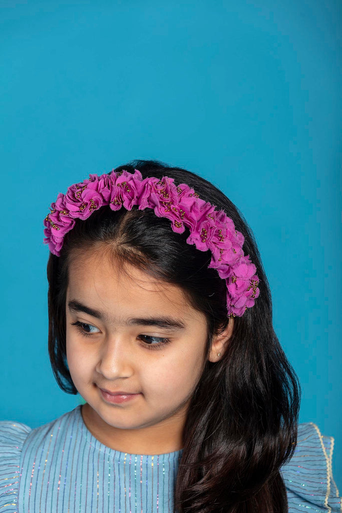Set of accessories - Flower Crowns & Scrunchies - Orchid/Bubbles combo