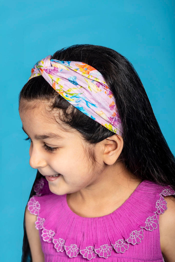 Set of Vanessa Headbands - Starfish/Rose Coral Reef print