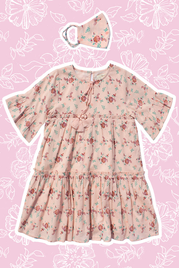 Amber Dress - Jardin Rose