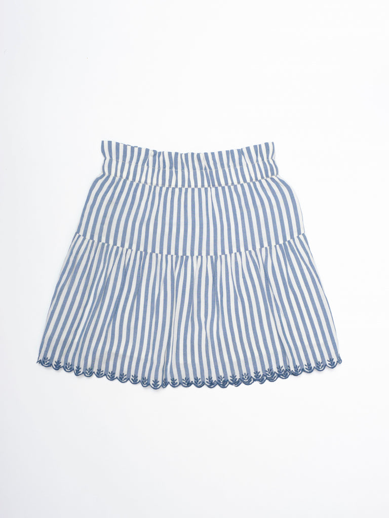 Ella Skirt - Blue Stripes