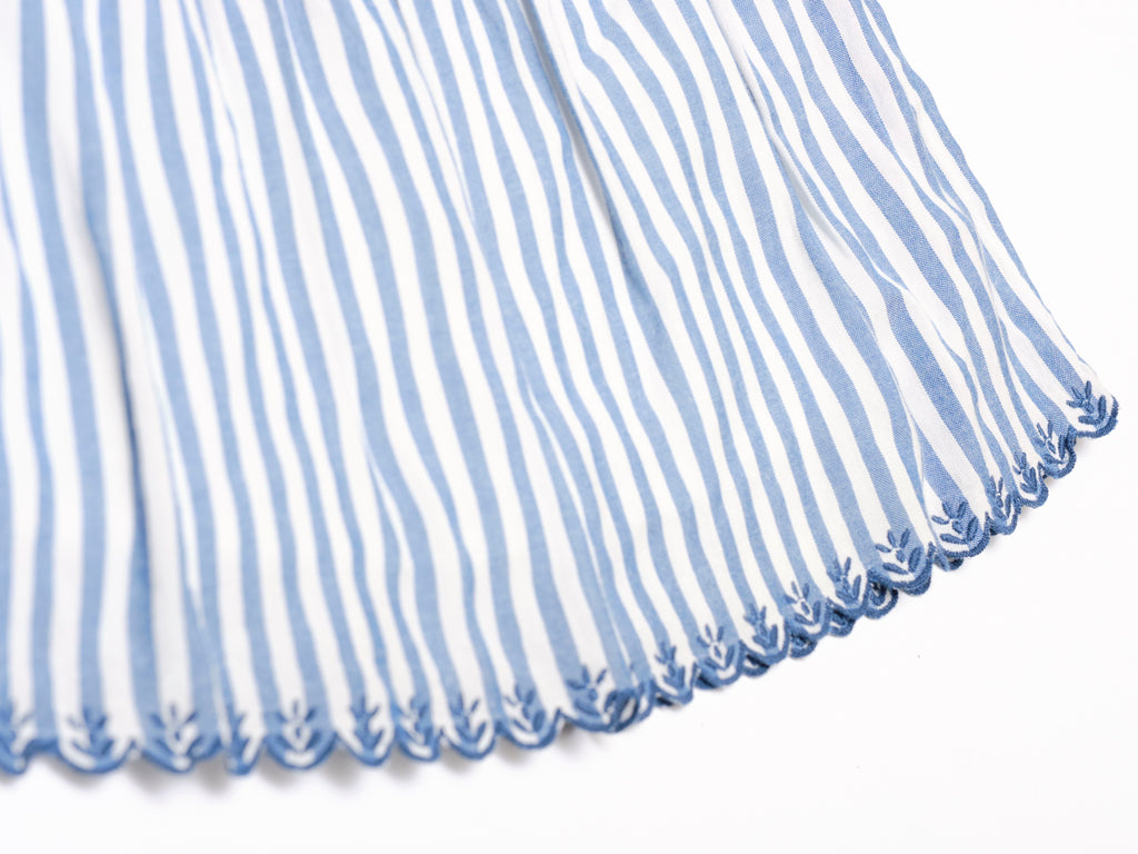 Eleonore Dress - Blue Stripes