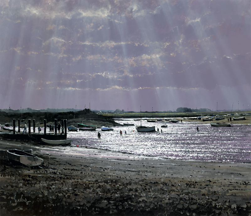 Looking West, Burnham Overy Staithe - Paper 25 x 30cm