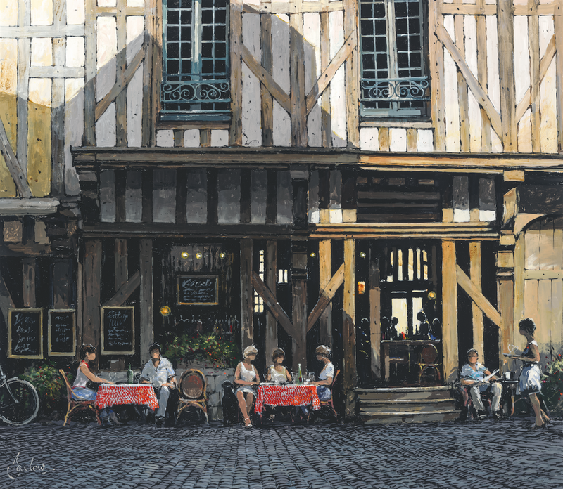 Cafe, Troyes (Artist's Proof) - Paper 50 x 60cm