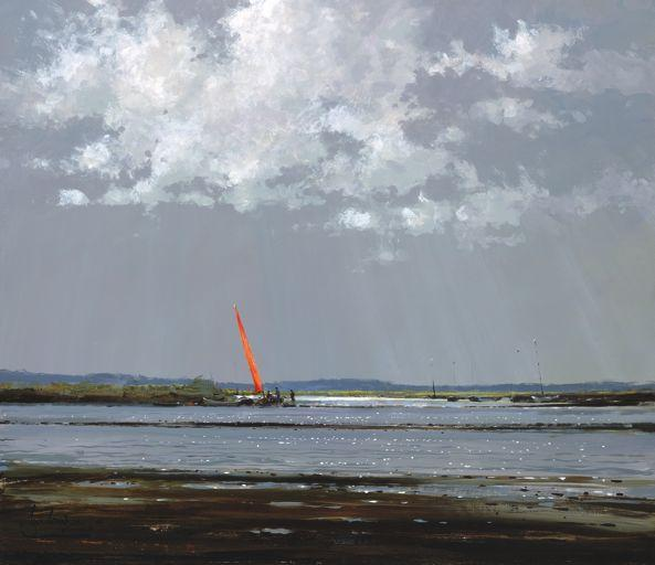 Red Sail At Morston