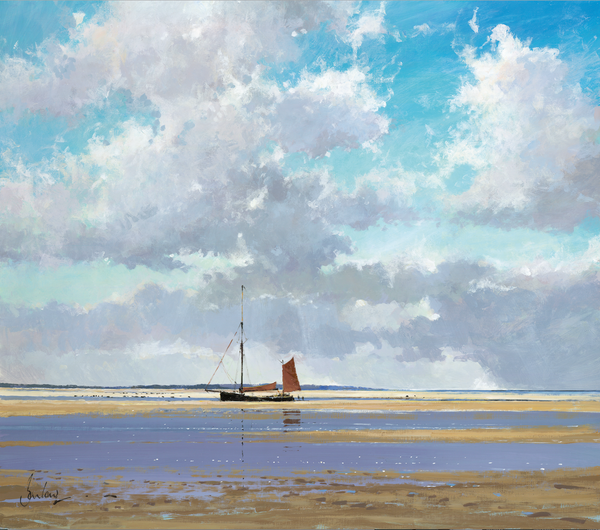 Juno Up On The Hard, Blakeney - Paper 25 x 30cm
