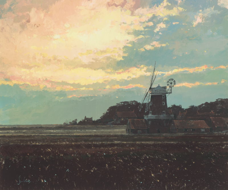 Cley Mill At Dawn - Paper 25 x 30cm