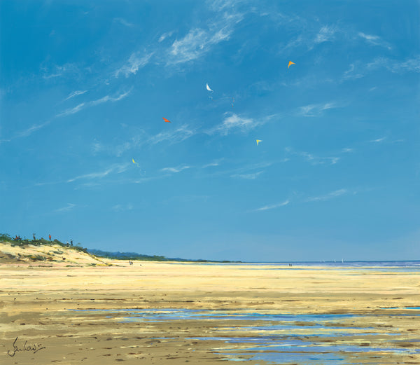 Holkham, Blue Sky And Kites