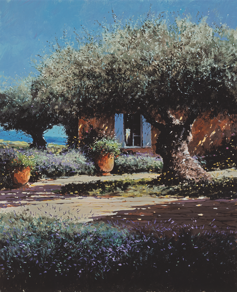 Garden With Olive Tree - Paper 25 x 30cm
