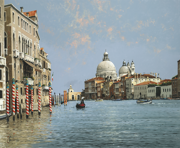 The Dagona, Salute And Grand Canal - Paper 25 x 30cm